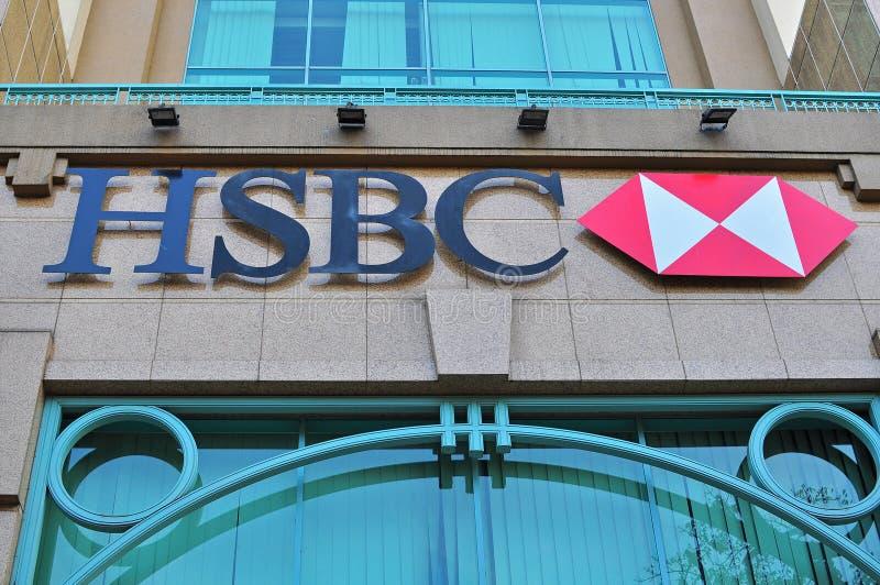Logotipo y muestra de HSBC imagenes de archivo