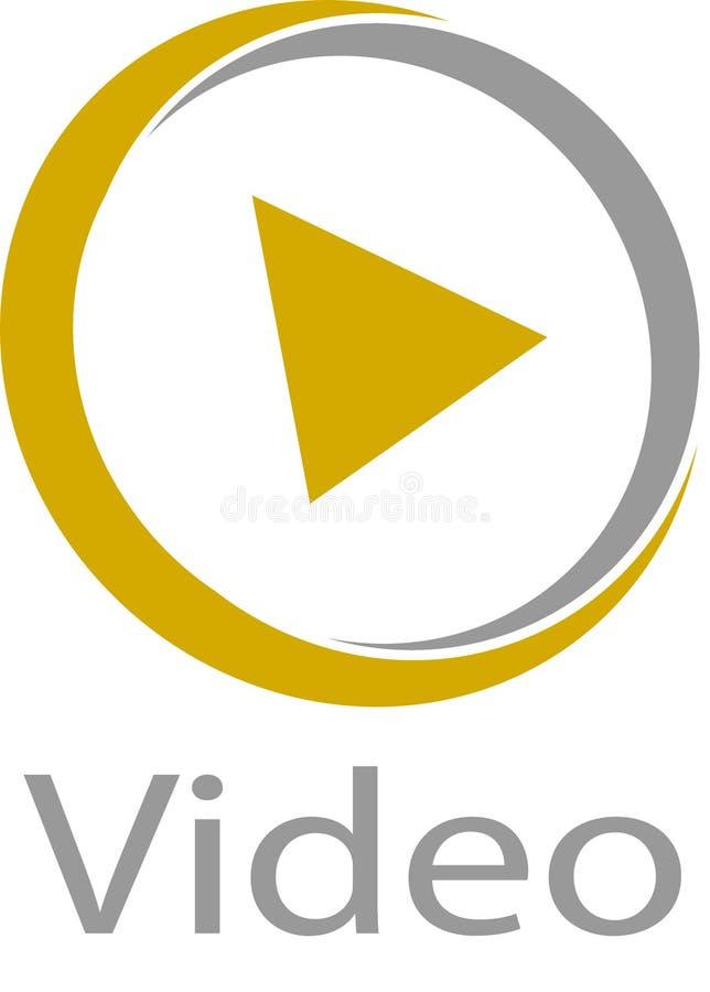 Logotipo y plantilla de la imagen de vídeo libre illustration