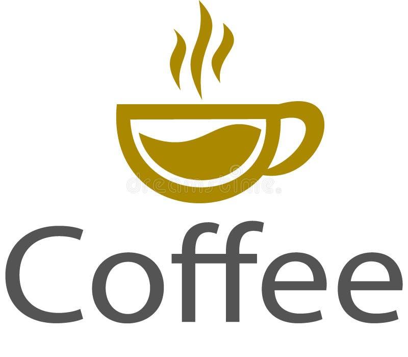 Logotipo y plantilla del café de la taza ilustración del vector