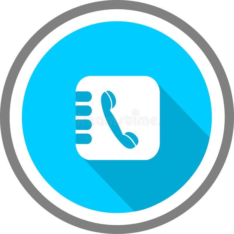 Logotipo y plantilla del listín de teléfonos stock de ilustración