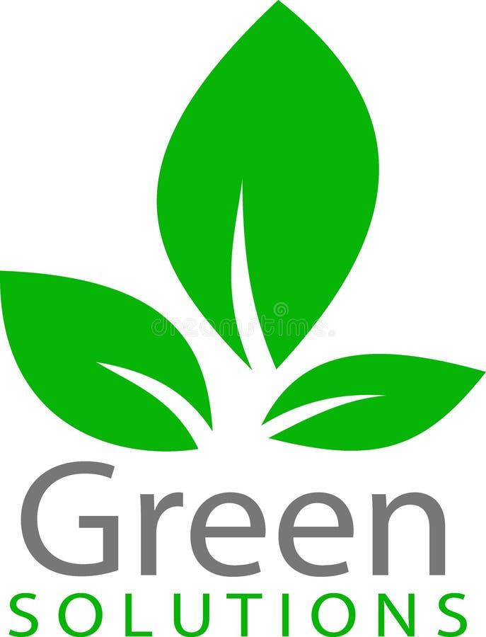 Logotipo y plantilla verdes de la hoja stock de ilustración