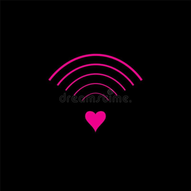 Logotipo y símbolo del diseño de la señal del amor ilustración del vector