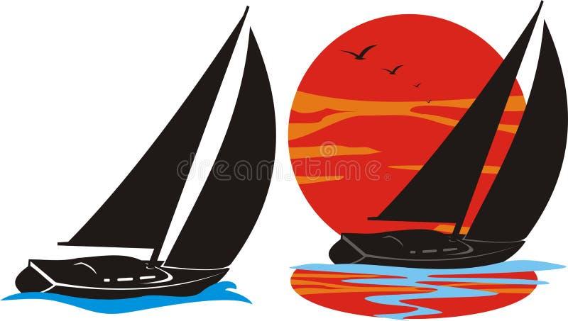Logotipo Yachting ilustração royalty free
