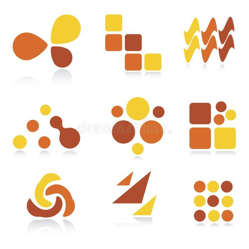Logotipos/ícones abstratos ilustração royalty free