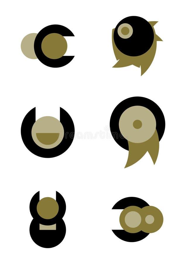 Logotipos únicos del vector imagen de archivo libre de regalías