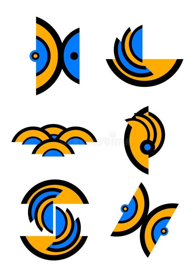 Logotipos únicos del vector fotografía de archivo libre de regalías