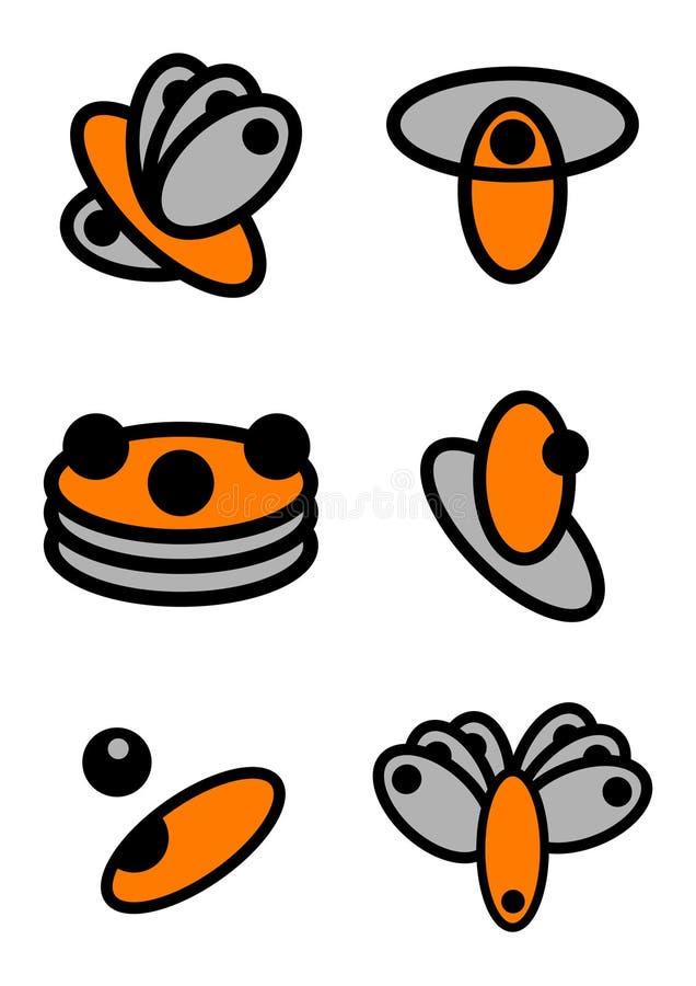 Logotipos únicos del vector fotos de archivo libres de regalías