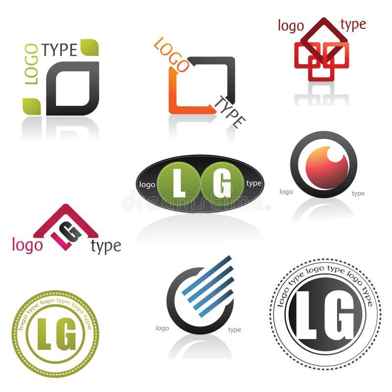 Logotipos ilustração royalty free