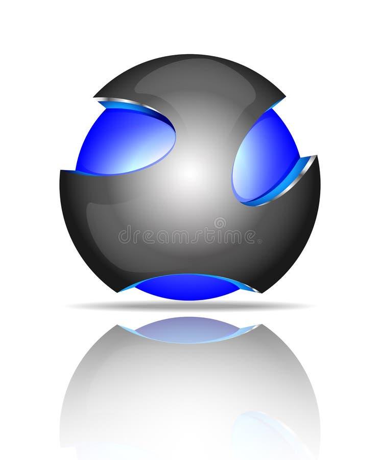 Logotipos abstractos de la esfera 3d libre illustration
