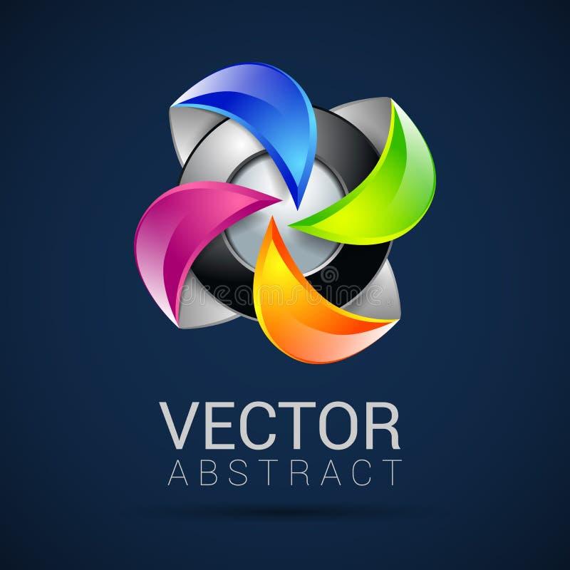 Logotipos abstractos de la esfera 3d que tallan el sistema Esferas del logotipo ilustración del vector