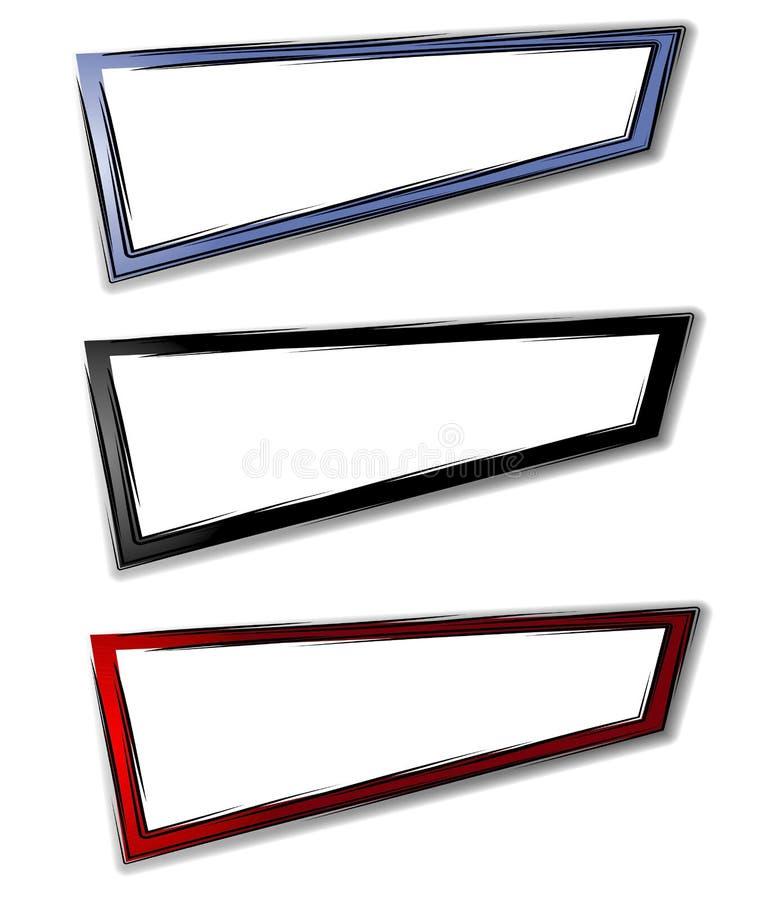 Logotipos abstratos básicos do Web page ilustração royalty free