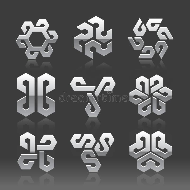 Logotipos abstratos do vetor ilustração royalty free