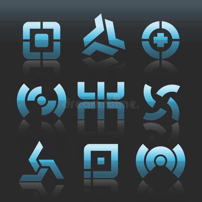 Logotipos abstratos do vetor ilustração stock