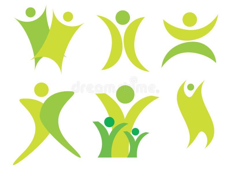 Logotipos abstratos dos povos ilustração royalty free