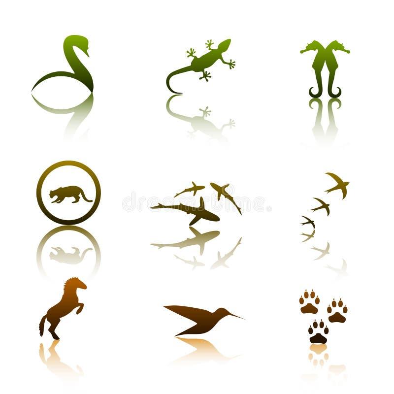 Logotipos animais ilustração royalty free