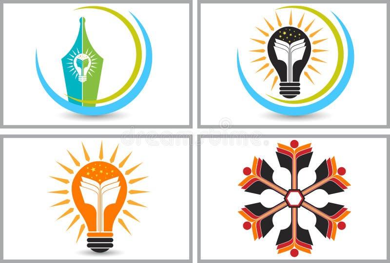Logotipos brillantes de la educación libre illustration