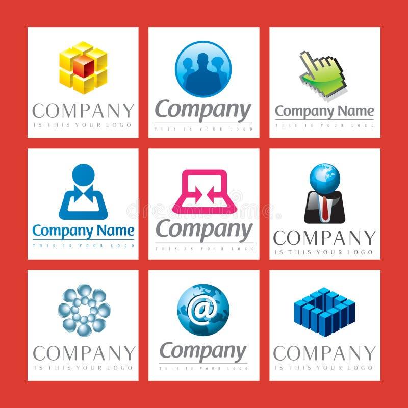 Logotipos corporativos ilustração royalty free