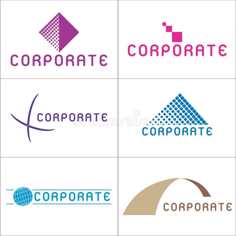 Logotipos corporativos ilustração stock
