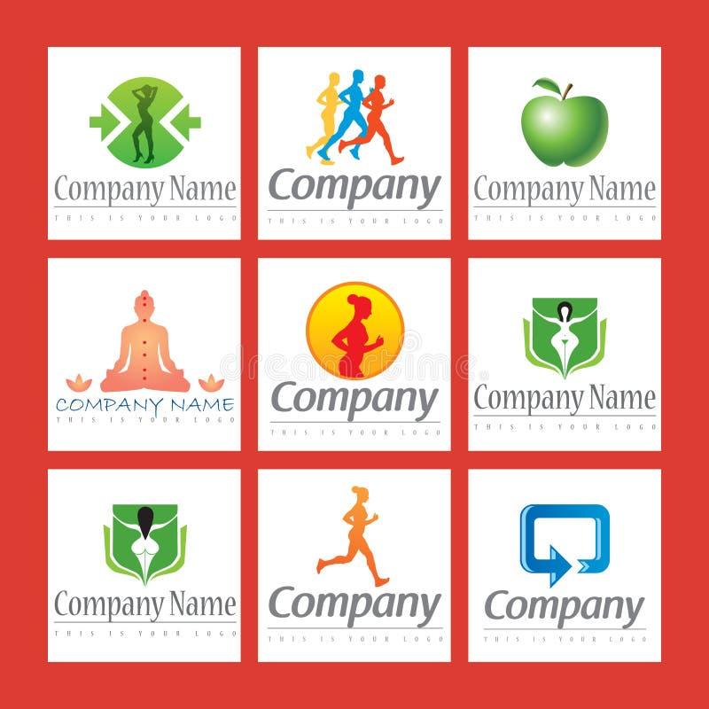 Logotipos da aptidão ilustração do vetor
