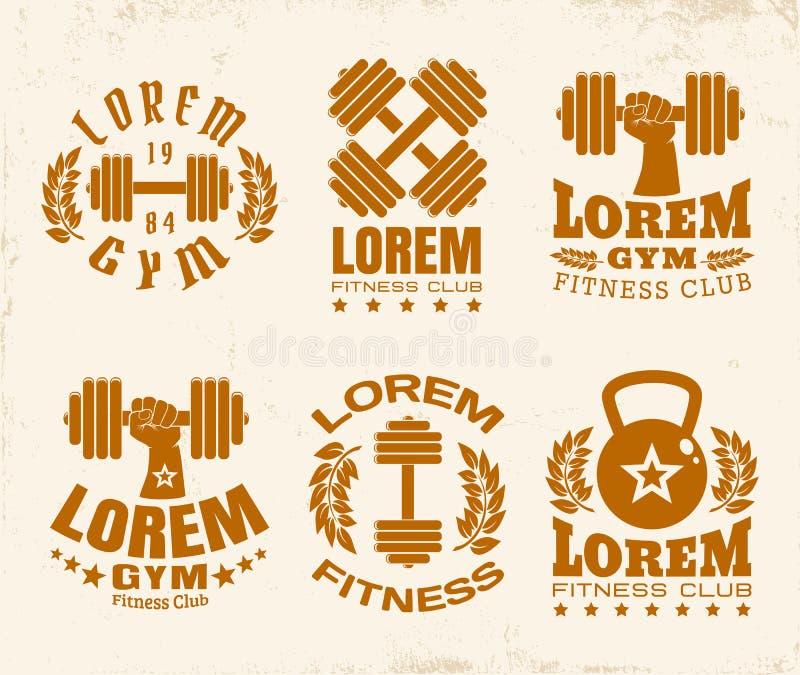 Logotipos da aptidão ilustração royalty free