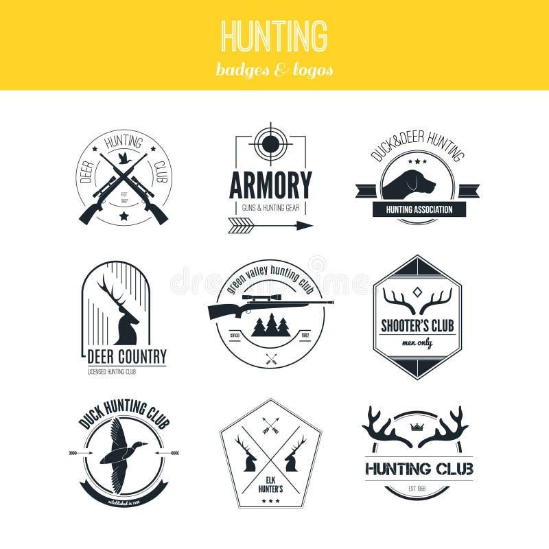Logotipos da caça ilustração royalty free