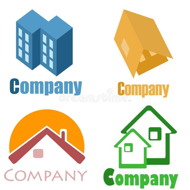 Logotipos da casa fotos de stock royalty free