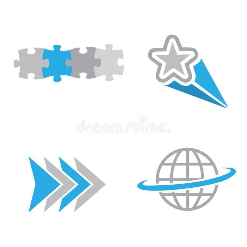 Logotipos da companhia ilustração royalty free