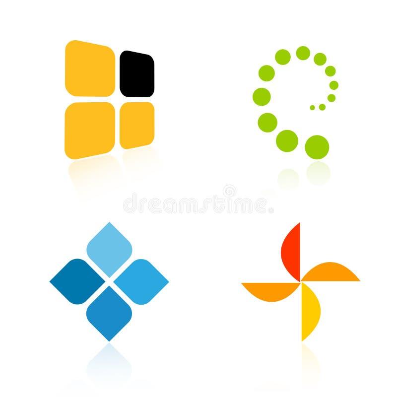 Logotipos da companhia ilustração do vetor