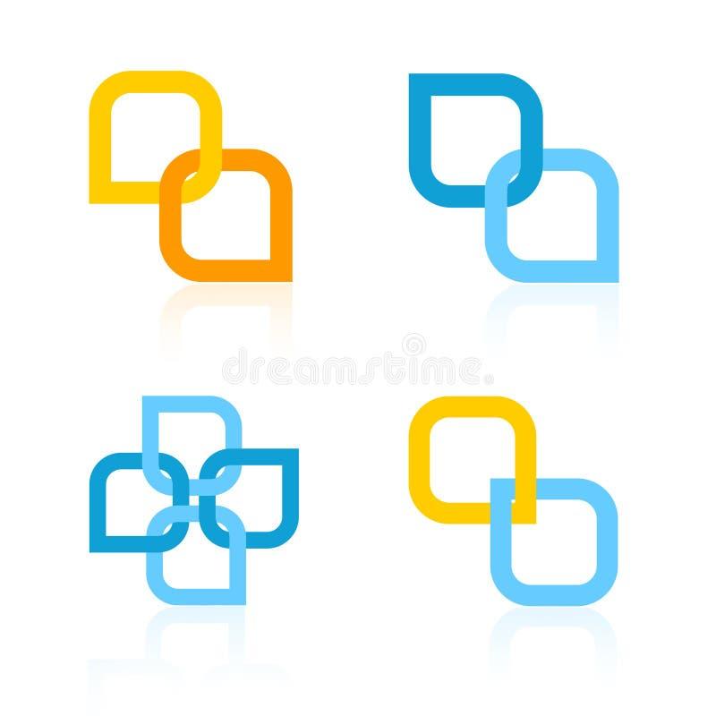 Logotipos da companhia ilustração stock