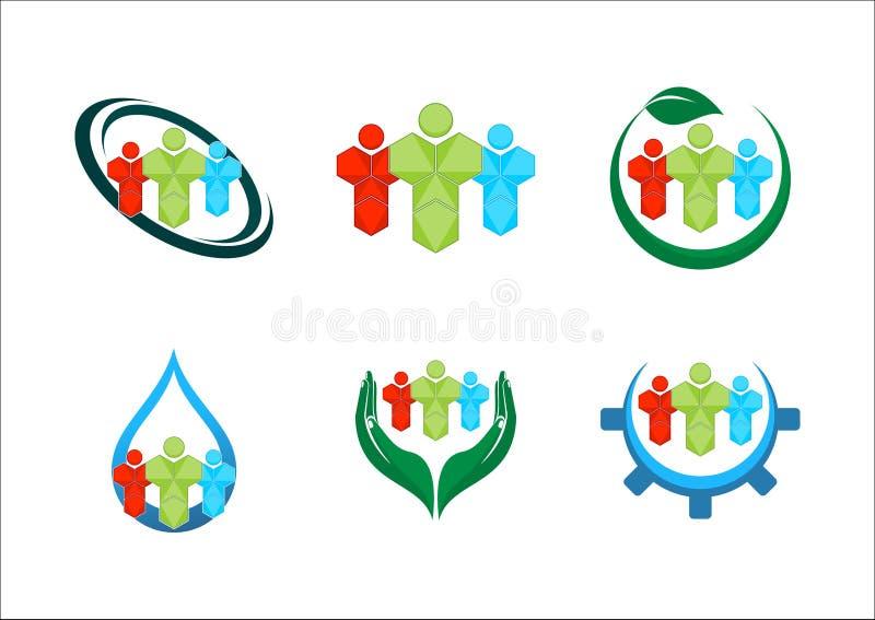 logotipos da equipe ilustração royalty free