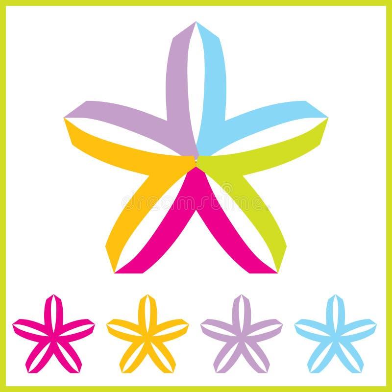 Logotipos da estrela do vetor ilustração stock