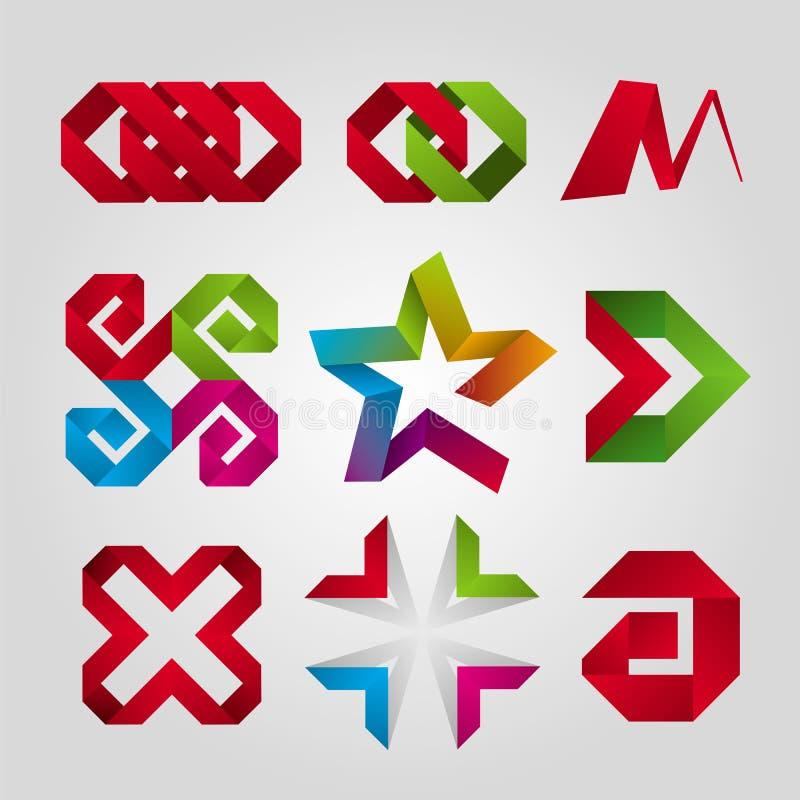 Logotipos da fita ilustração do vetor
