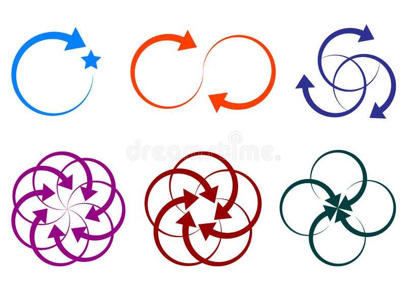 Logotipos da forma da seta ilustração stock