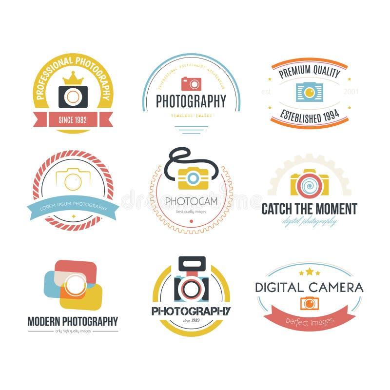 Logotipos da fotografia ilustração stock