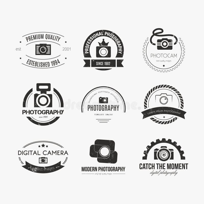 Logotipos da fotografia ilustração do vetor