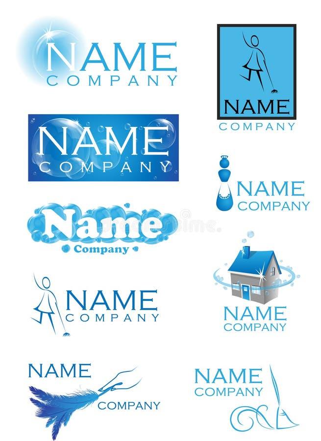 Logotipos da limpeza ilustração stock