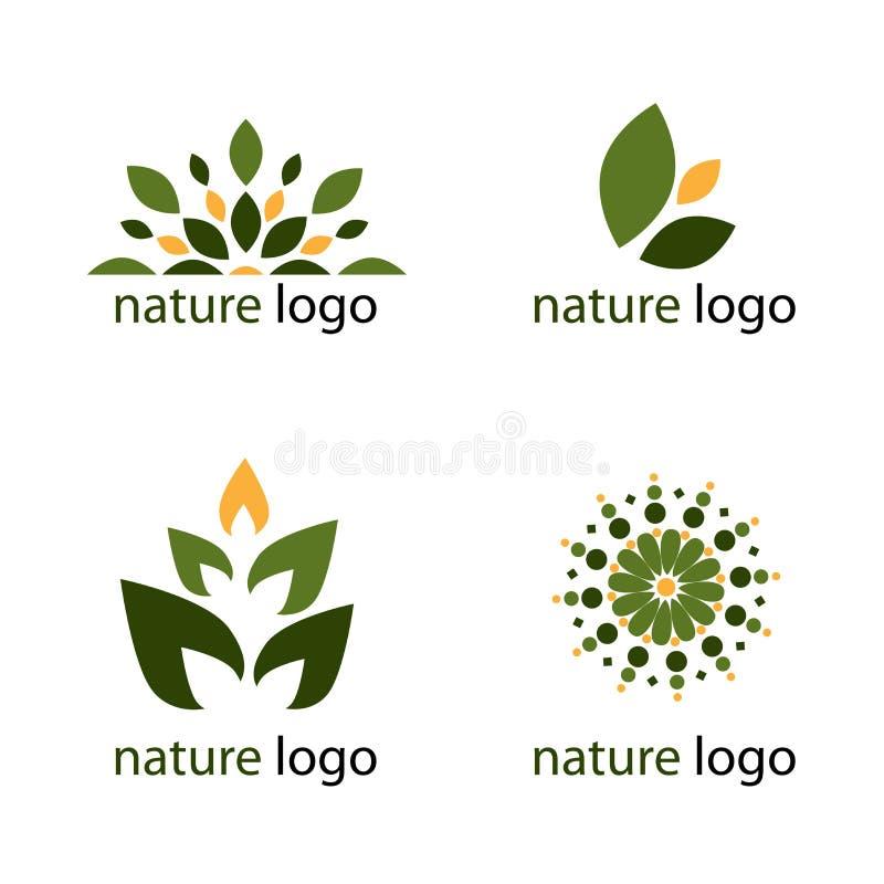 Logotipos da natureza ilustração royalty free