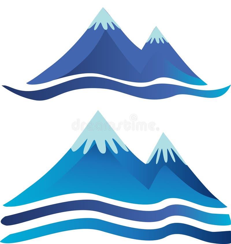 Logotipos das montanhas ilustração royalty free