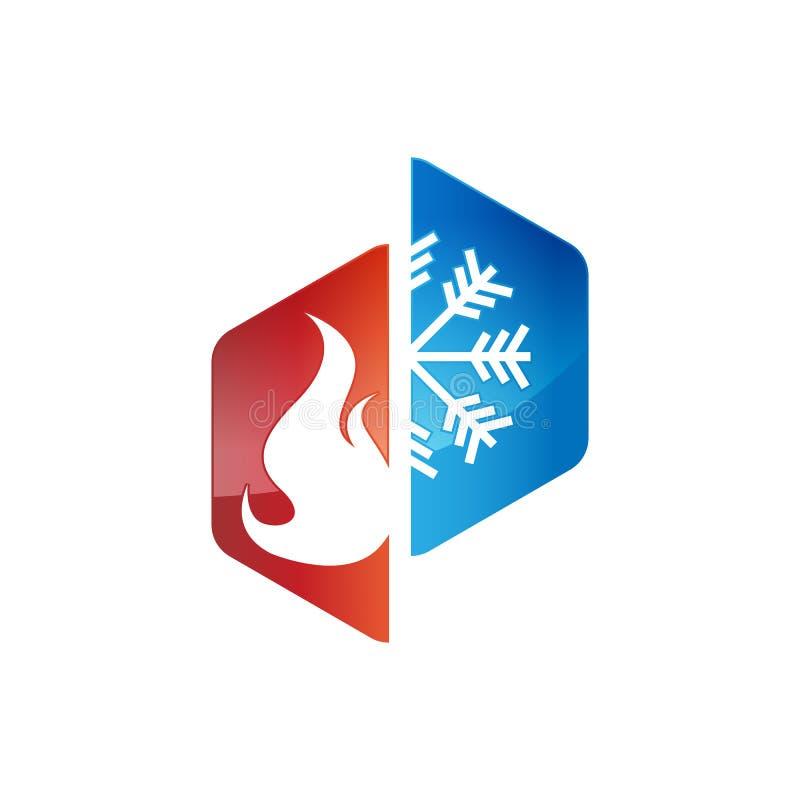 Logotipos de calefacción y refrigeración foto de archivo