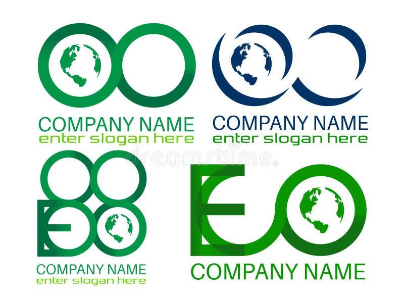 Logotipos de Eco ilustração do vetor