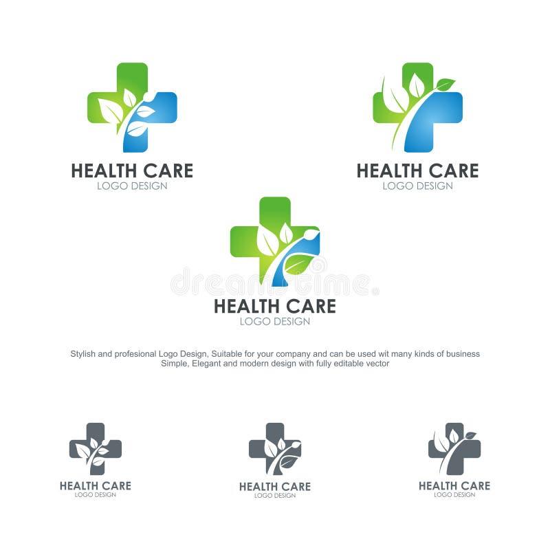 Logotipos de la atención sanitaria, con diseño elegante y moderno libre illustration