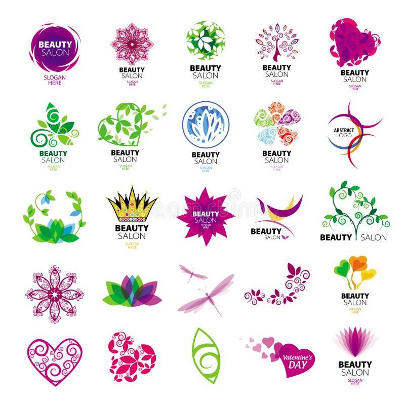 Logotipos de la colección para los salones de belleza libre illustration