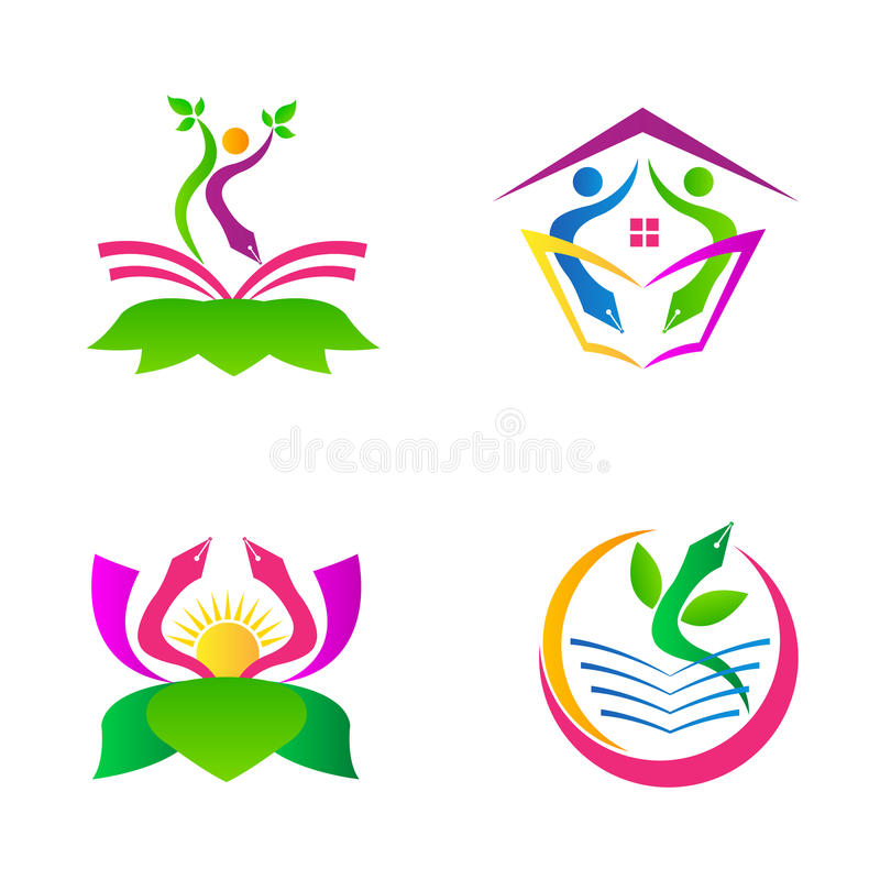 Logotipos de la educación libre illustration