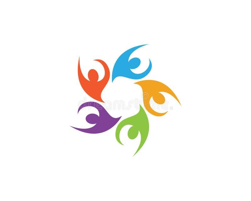 Logotipos de la gente de la comunidad stock de ilustración