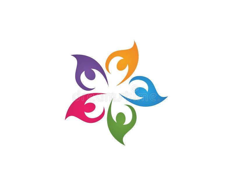 Logotipos de la gente de la comunidad ilustración del vector