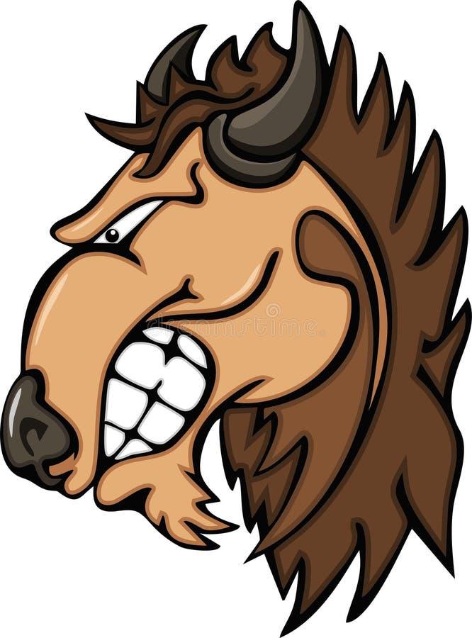 Logotipos de la mascota del búfalo ilustración del vector