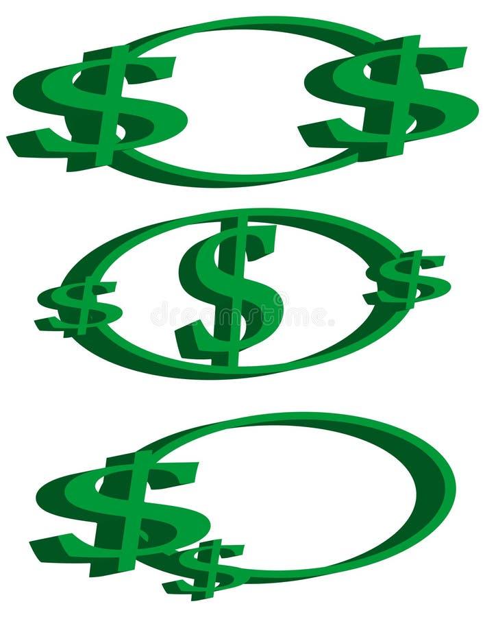 Logotipos de la muestra de dólar stock de ilustración