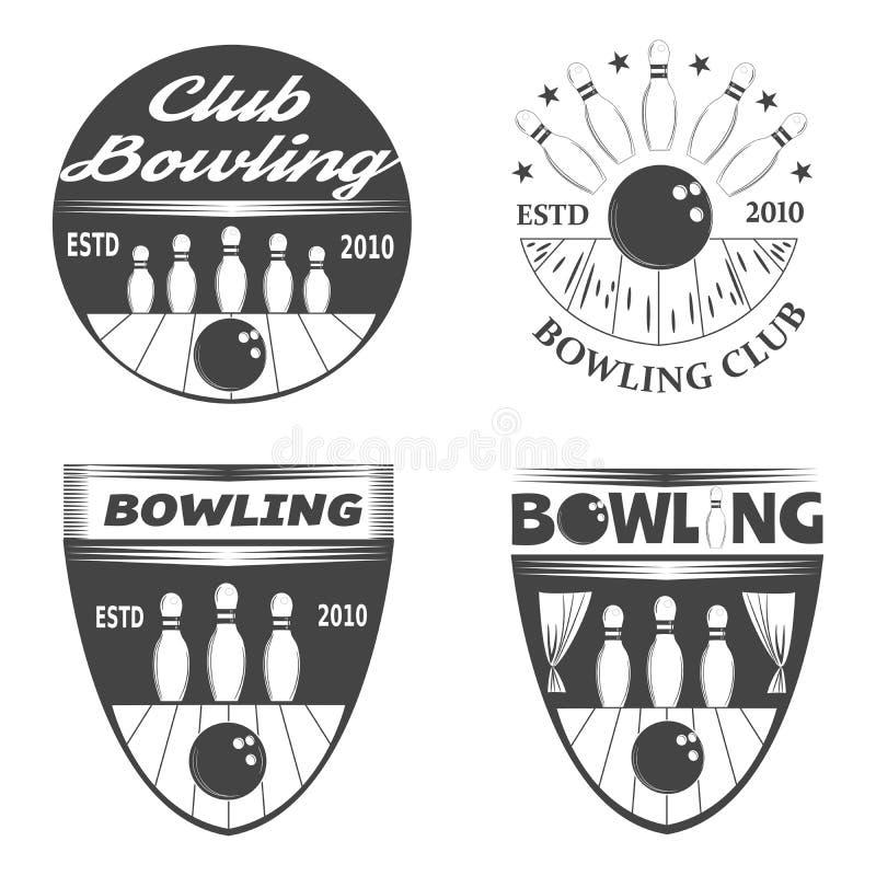 Logotipos de los bolos fotos de archivo