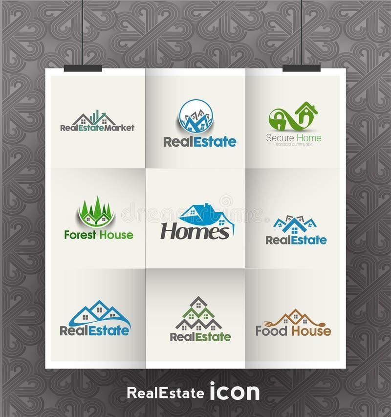 Logotipos de Real Estate ilustração royalty free