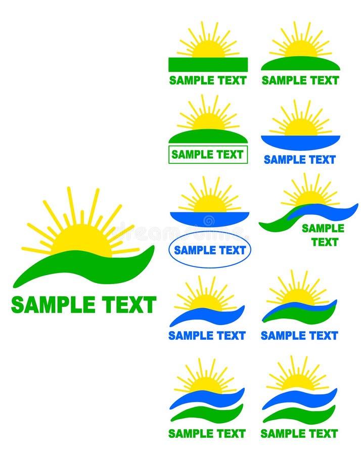 Logotipos de Sun. ilustração do vetor